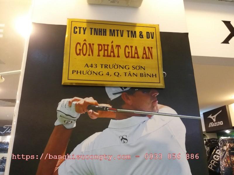 bảng hiệu inox cho công ty